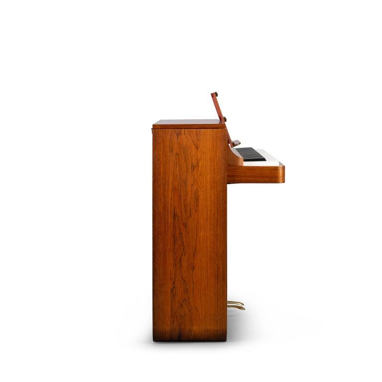 Veneer Danish Mid-Century Modern Hardwood Pianette Bij Louis Zwicki, 1960s For Sale