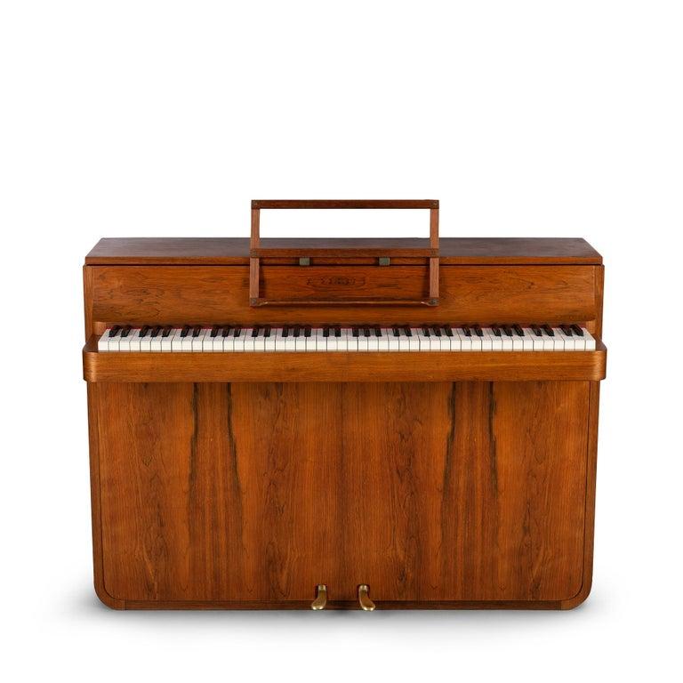 Danish Mid-Century Modern Hardwood Pianette Bij Louis Zwicki, 1960s For Sale 2