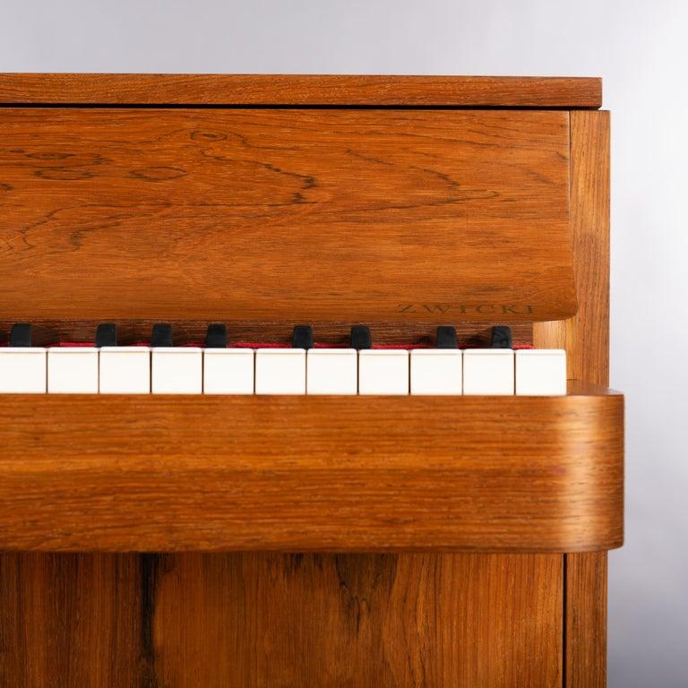 Danish Mid-Century Modern Hardwood Pianette Bij Louis Zwicki, 1960s For Sale 3