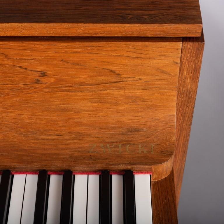 Danish Mid-Century Modern Hardwood Pianette Bij Louis Zwicki, 1960s For Sale 4