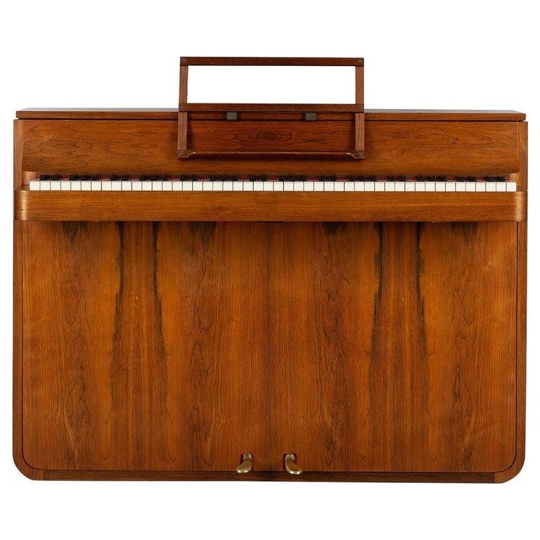 Danish Mid-Century Modern Hardwood Pianette Bij Louis Zwicki, 1960s For Sale