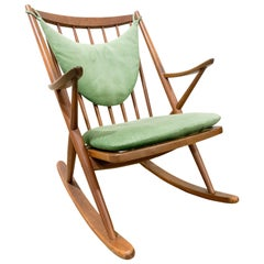 Danish Mid-Century Modern Rocking Chair by Bramin