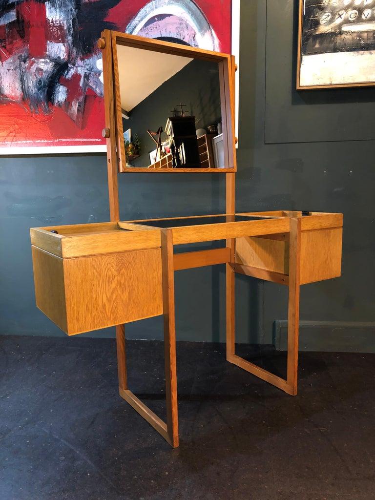 Danish Mid-Century Modernist Vanity Unit, Oak For Sale 11