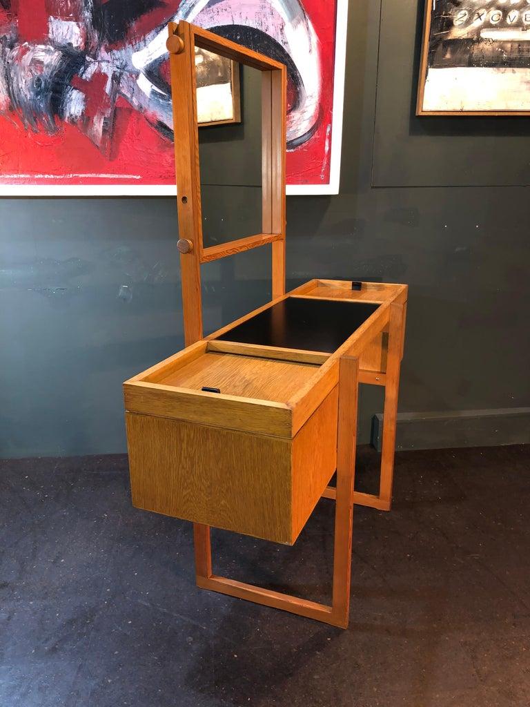 Danish Mid-Century Modernist Vanity Unit, Oak For Sale 8