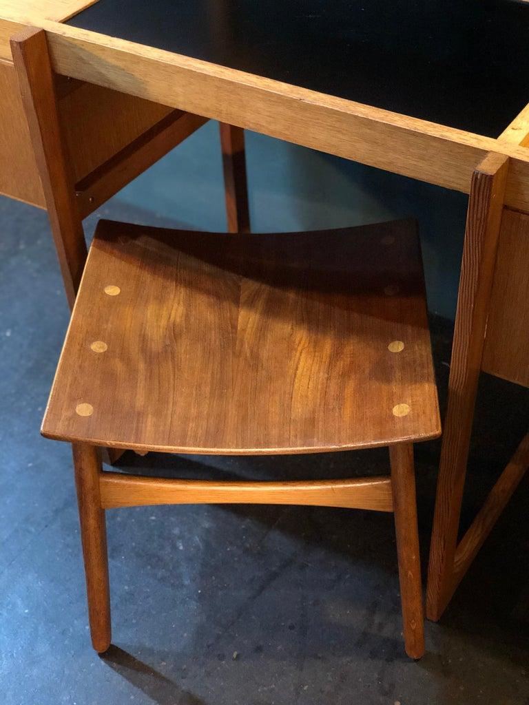 Danish Mid-Century Modernist Vanity Unit, Oak For Sale 9
