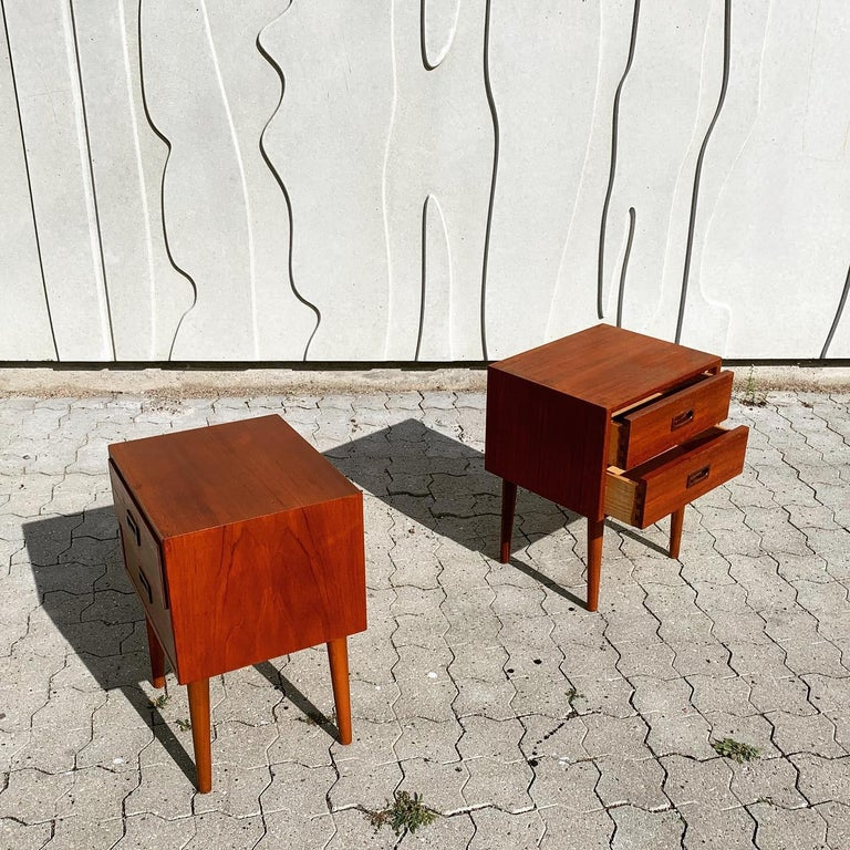 Danish Midcentury Nightstands For Sale 9