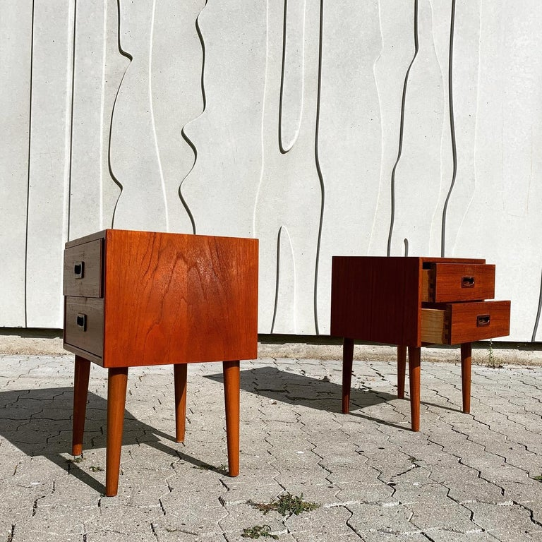 Danish Midcentury Nightstands For Sale 11