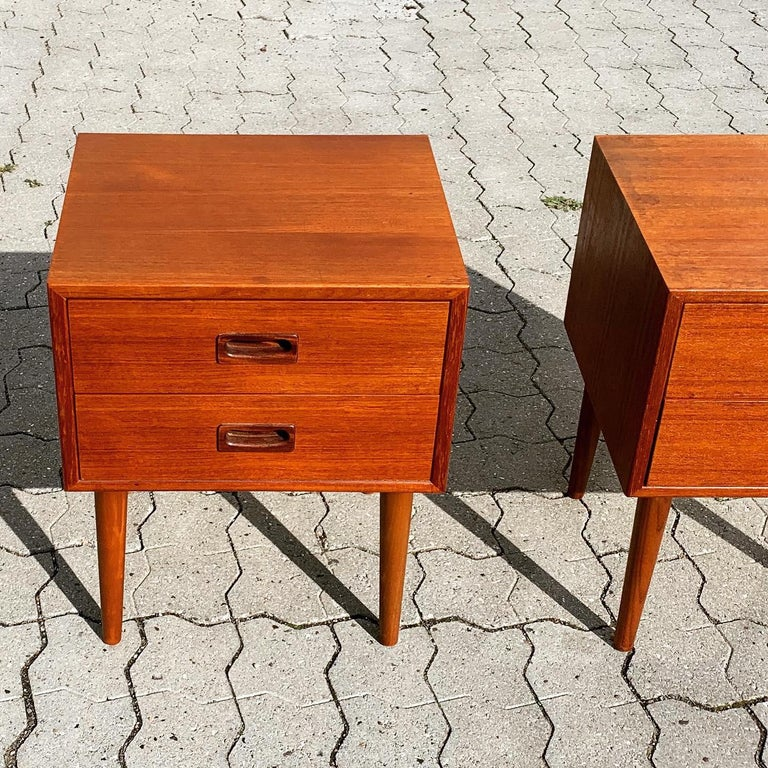 Danish Midcentury Nightstands For Sale 12