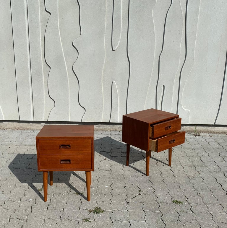 20th Century Danish Midcentury Nightstands For Sale