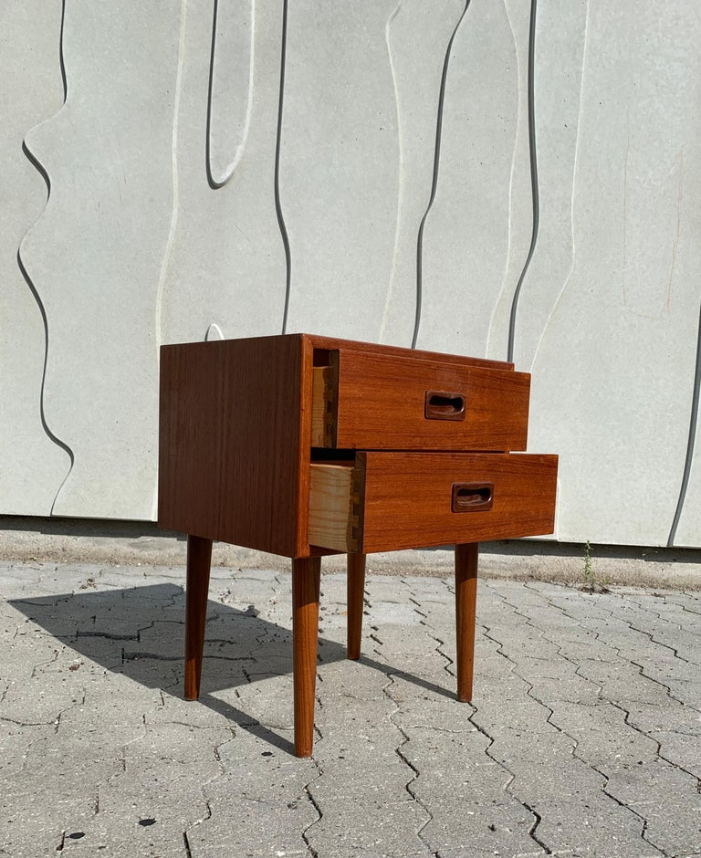 Teak Danish Midcentury Nightstands For Sale