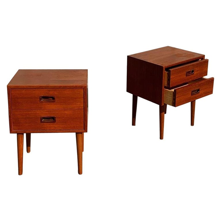 Danish Midcentury Nightstands For Sale