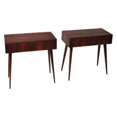 Danish Midcentury Nightstands, Modernist End Tables