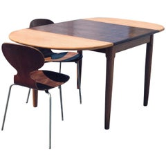 Danish Midcentury Oak Dinning Table, 1960s