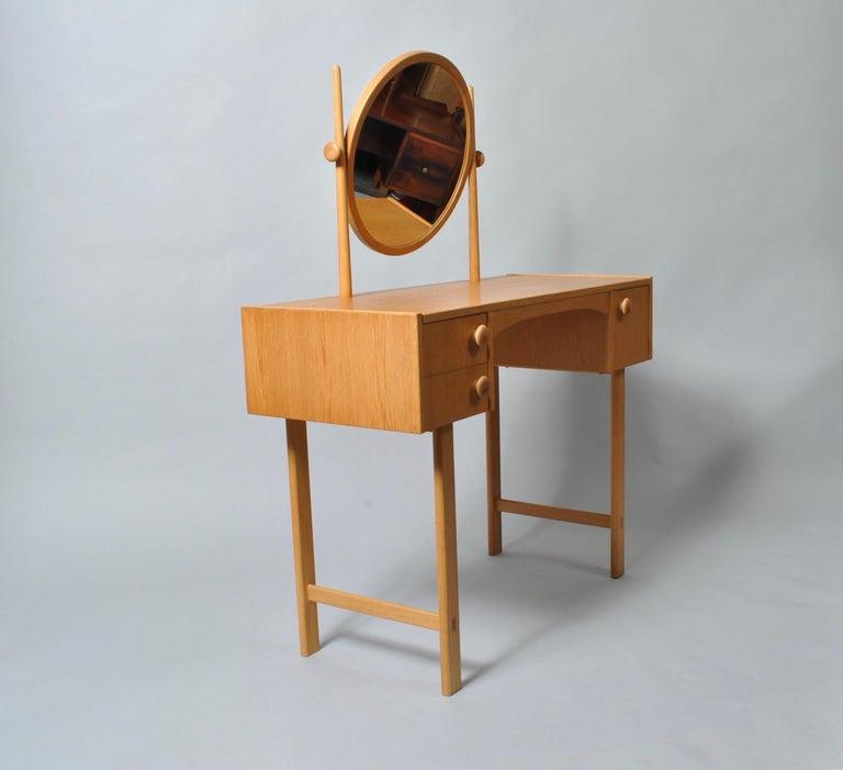 Danish Midcentury Oak Dressing Table For Sale 4