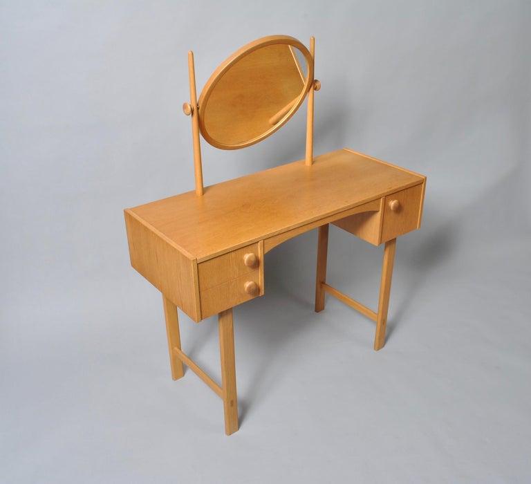 Mid-Century Modern Danish Midcentury Oak Dressing Table For Sale