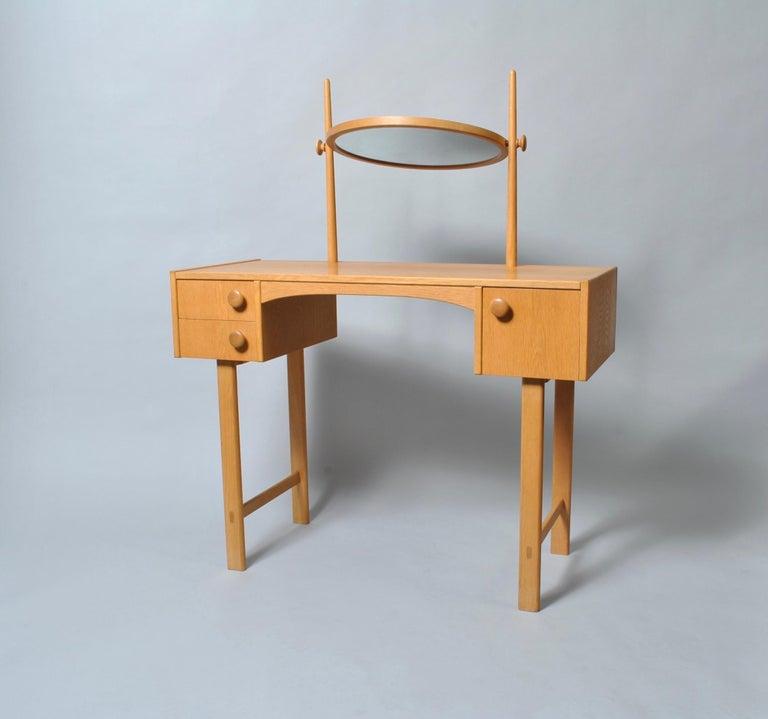 Danish Midcentury Oak Dressing Table For Sale 1