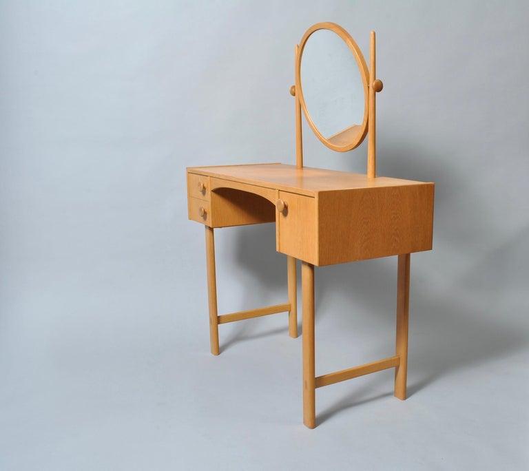 Danish Midcentury Oak Dressing Table For Sale 2