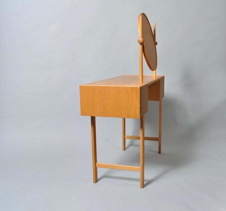 Danish Midcentury Oak Dressing Table For Sale 3