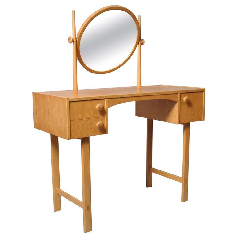 Danish Midcentury Oak Dressing Table For Sale