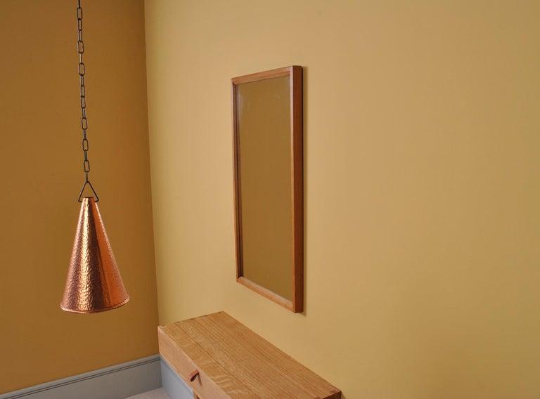 Mid-Century Modern Danish Midcentury Oak Mirror by Aksel Kjersgaard  For Sale