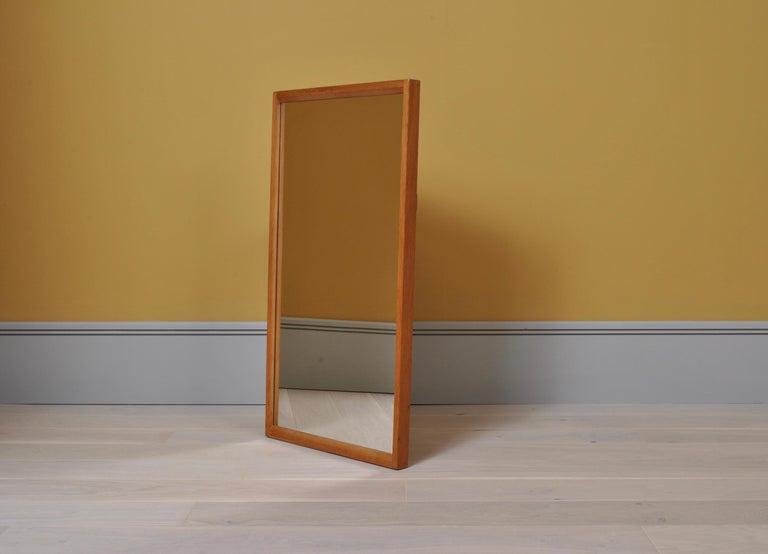 Danish Midcentury Oak Mirror by Aksel Kjersgaard  In Good Condition For Sale In London, GB