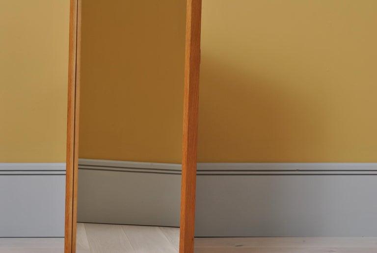 Danish Midcentury Oak Mirror by Aksel Kjersgaard  For Sale 1