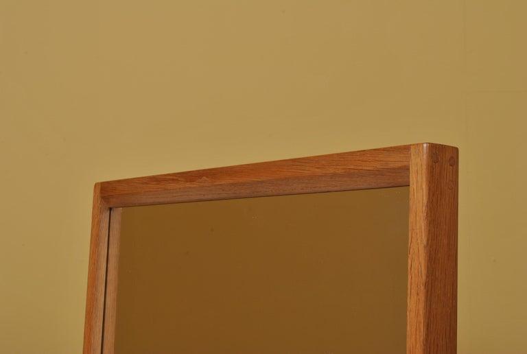 Danish Midcentury Oak Mirror by Aksel Kjersgaard  For Sale 2