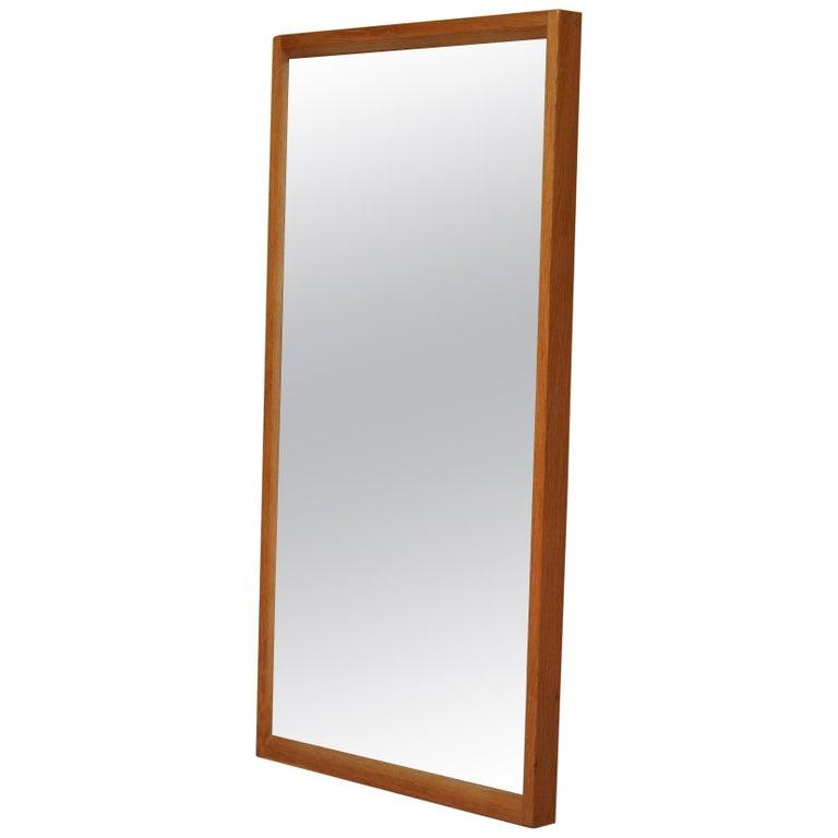 Danish Midcentury Oak Mirror by Aksel Kjersgaard  For Sale