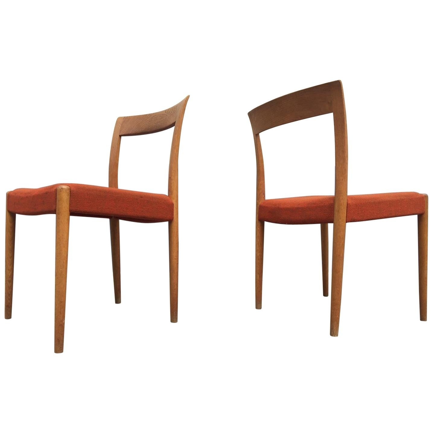 Danish Midcentury Oak Side Chairs by Søren Willadsen, 1960s