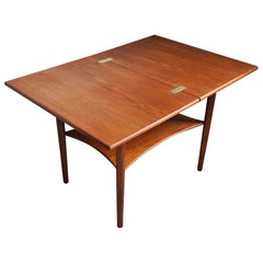 Danish Midcentury Occasional Teak Folding Side Table, 1960s