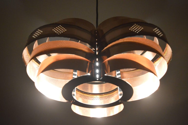 Danish Midcentury Pendant by Verner Schou for Coronell, 1960s In Good Condition For Sale In Praha, CZ