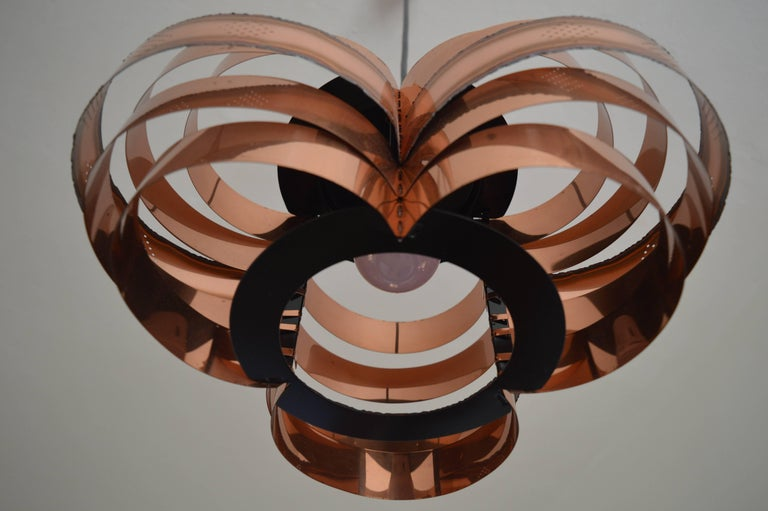 Mid-20th Century Danish Midcentury Pendant by Verner Schou for Coronell, 1960s For Sale