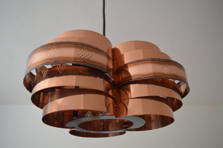 Danish Midcentury Pendant by Verner Schou for Coronell, 1960s For Sale 2