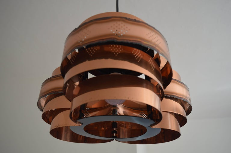 Danish Midcentury Pendant by Verner Schou for Coronell, 1960s For Sale 3