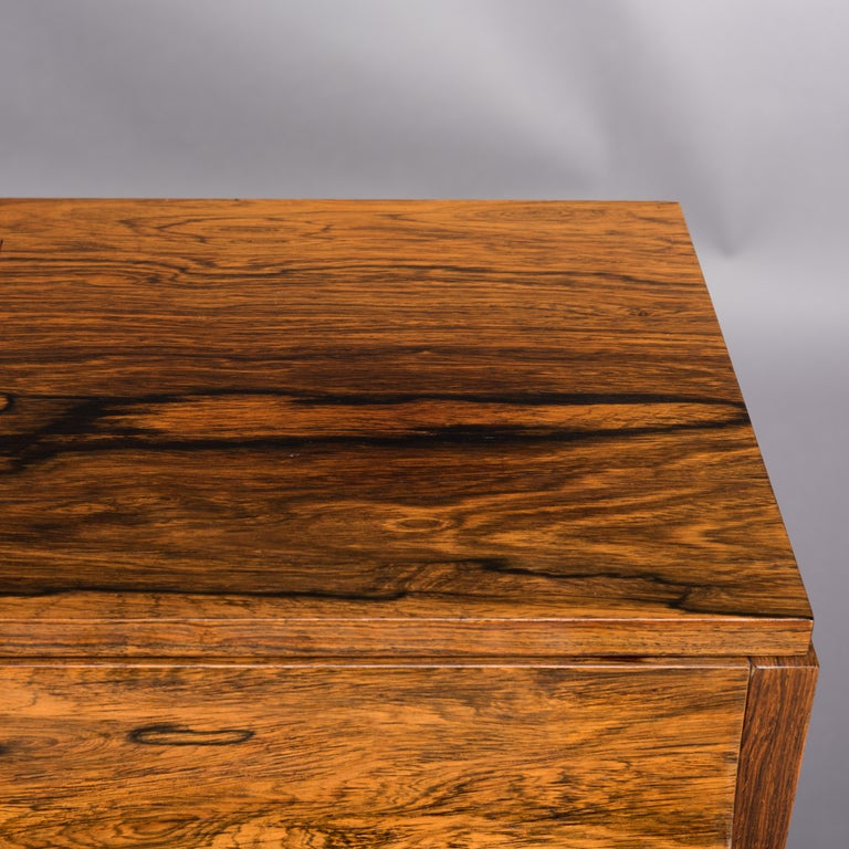Danish Midcentury Pianette by Louis Zwicki in Expressive Rosewood, 1950s For Sale 6