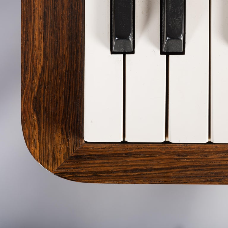 Danish Midcentury Pianette by Louis Zwicki in Expressive Rosewood, 1950s For Sale 8