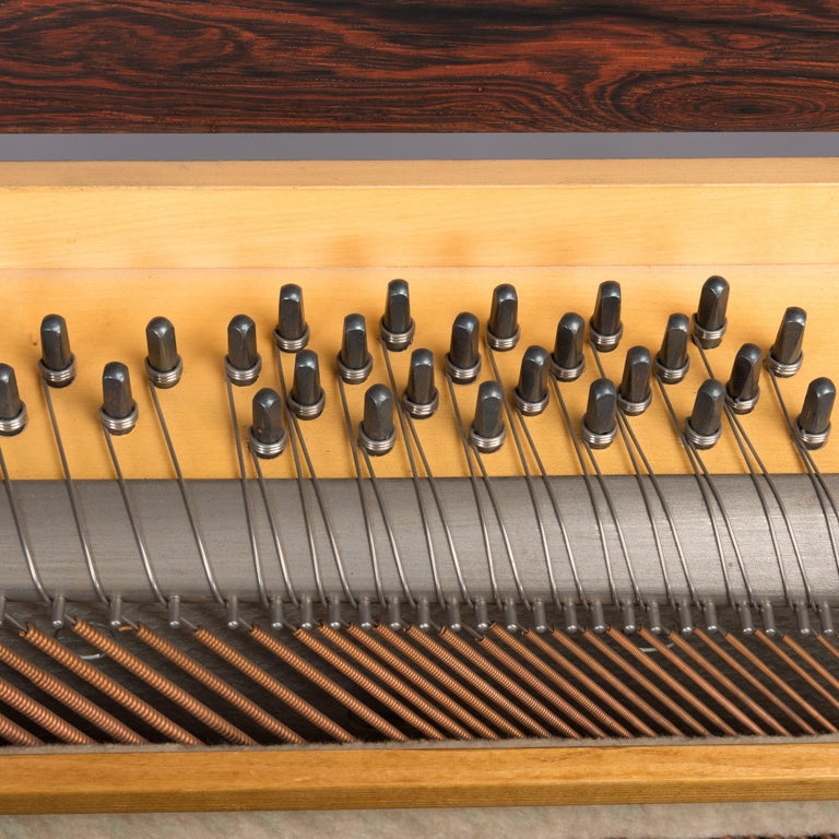 Danish Midcentury Pianette by Louis Zwicki in Expressive Rosewood, 1950s For Sale 10