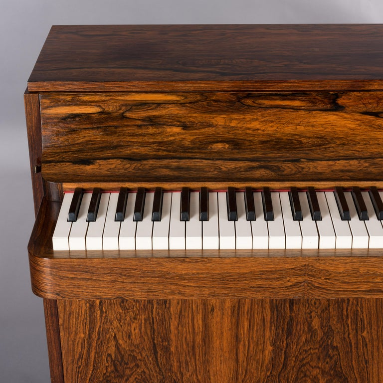 Danish Midcentury Pianette by Louis Zwicki in Expressive Rosewood, 1950s For Sale 11