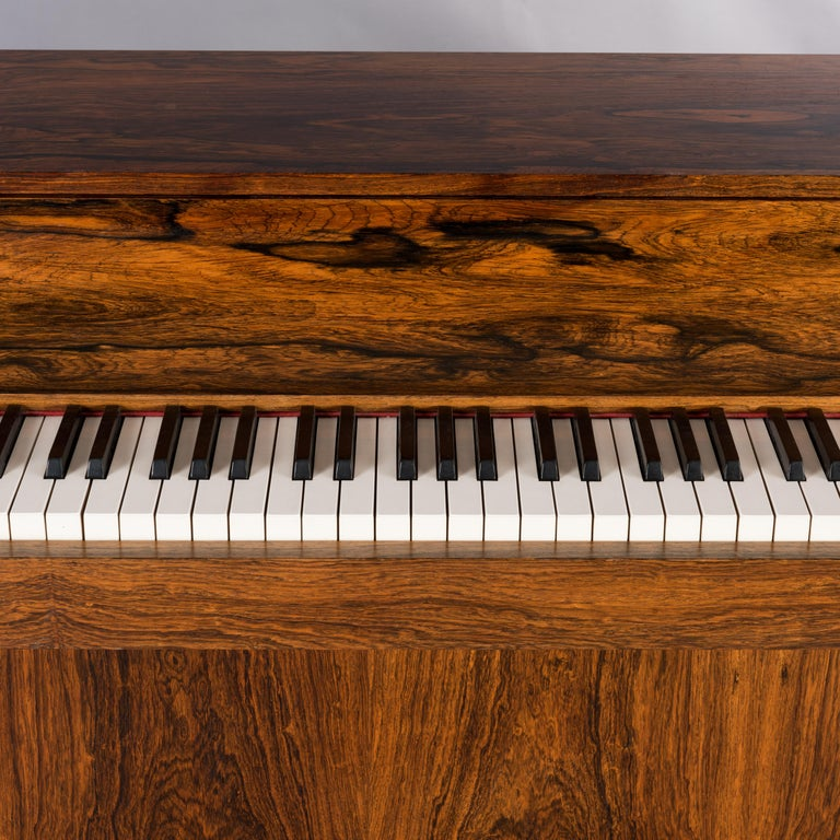 Danish Midcentury Pianette by Louis Zwicki in Expressive Rosewood, 1950s For Sale 12