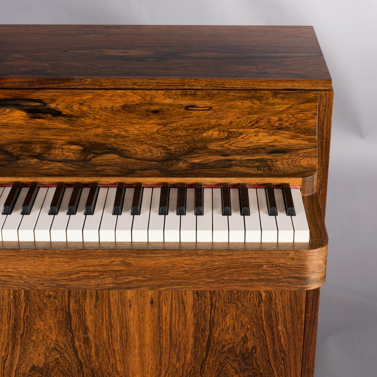 Danish Midcentury Pianette by Louis Zwicki in Expressive Rosewood, 1950s For Sale 13