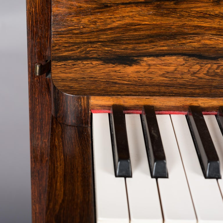 Danish Midcentury Pianette by Louis Zwicki in Expressive Rosewood, 1950s For Sale 14