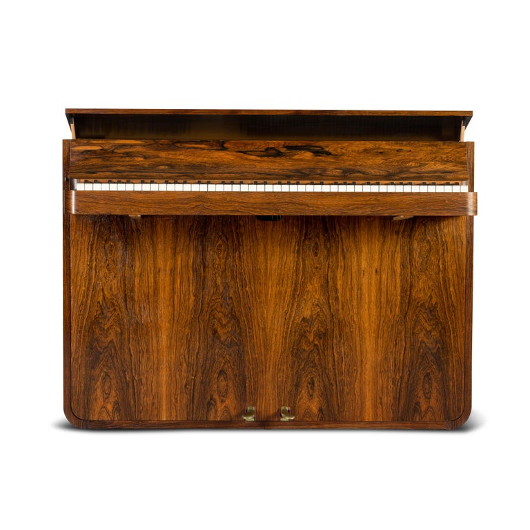Mid-Century Modern Danish Midcentury Pianette by Louis Zwicki in Expressive Rosewood, 1950s For Sale