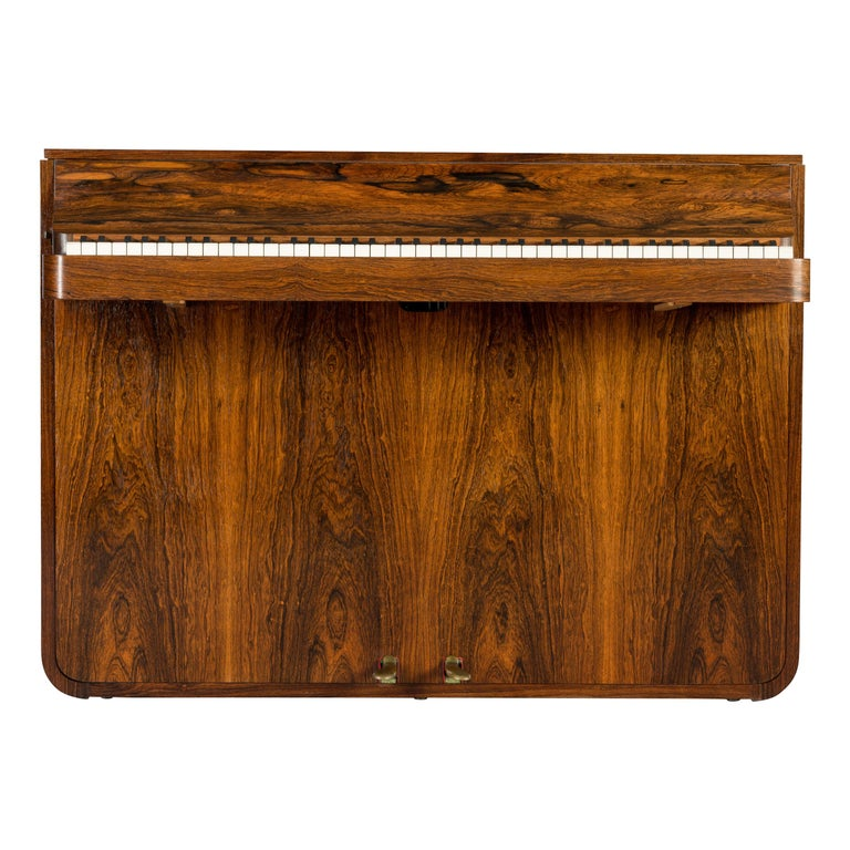 Danish Midcentury Pianette by Louis Zwicki in Expressive Rosewood, 1950s For Sale