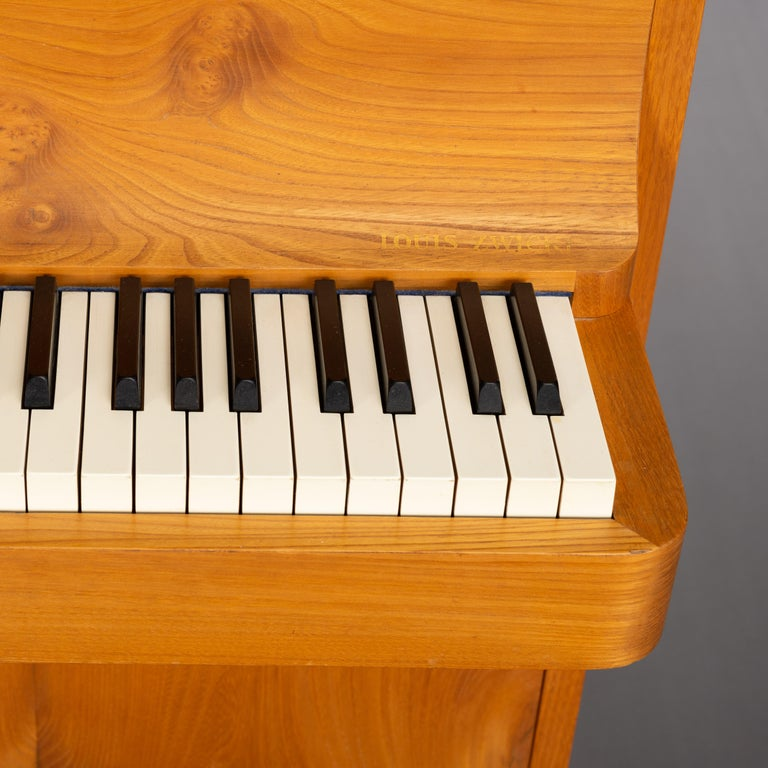 Danish Midcentury Pianette by Louis Zwicki in Oak 5