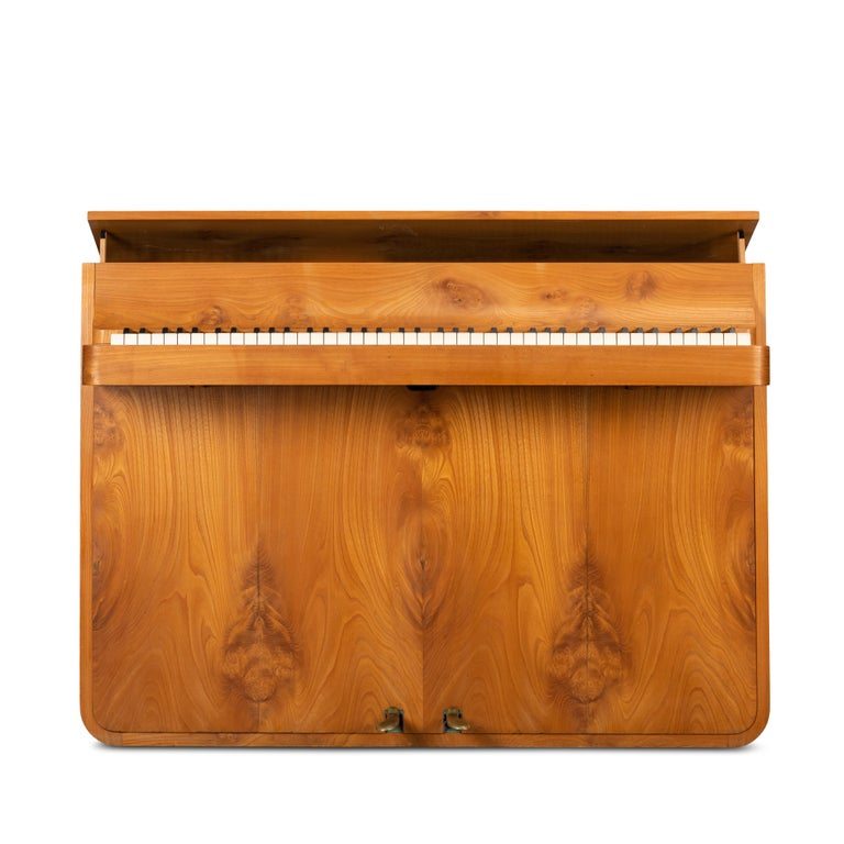 Mid-Century Modern Danish Midcentury Pianette by Louis Zwicki in Oak