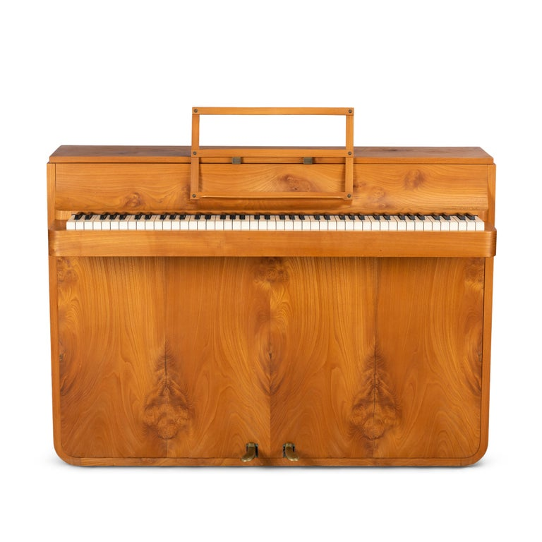 Danish Midcentury Pianette by Louis Zwicki in Oak 1