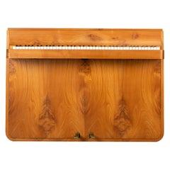 Danish Midcentury Pianette by Louis Zwicki in Oak