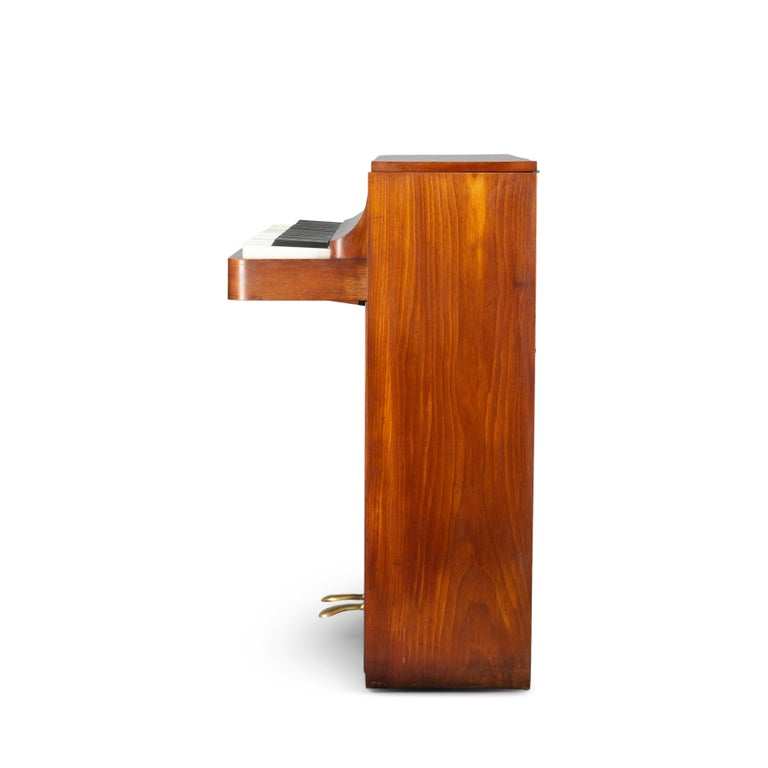 Mid-20th Century Danish Midcentury Pianette by Louis Zwicki in Teak, 1950s For Sale