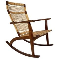 Danish Midcentury Rocking Chair by Hans Olsen for Juul Kristensen, c.1950