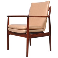 Danish Midcentury Rosewood Desk Chair by Arne Vodder